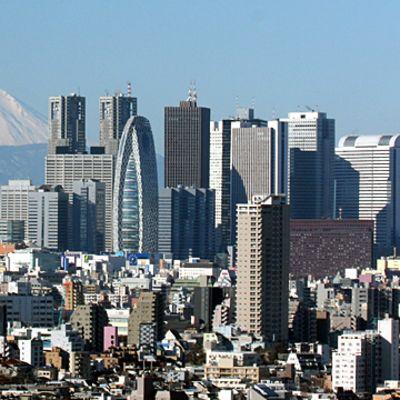 Vy över Japans huvudstad Tokyo.