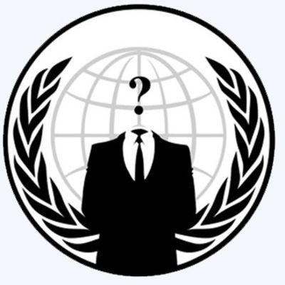 Anonymous logo prydde säkerthetsfirmans webbsida