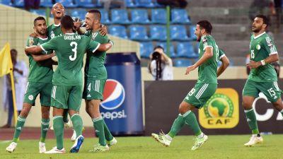 Riyad Mahrez nätade för Algeriet.
