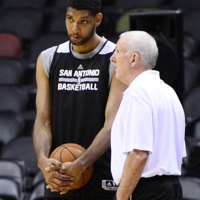 Tim Duncan och Gregg Popovich är legendarer i San Antonio.