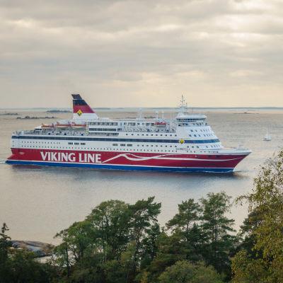 Kryssningsfartyget Viking Gabriella ute till sjöss.