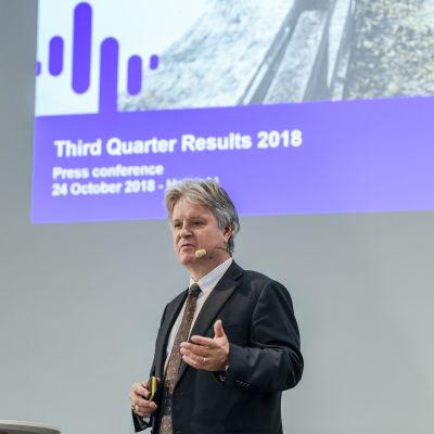 Nordeas koncernchef Casper von Koskull presenterar Nordeas resultat för det tredje kvartalet 2018.