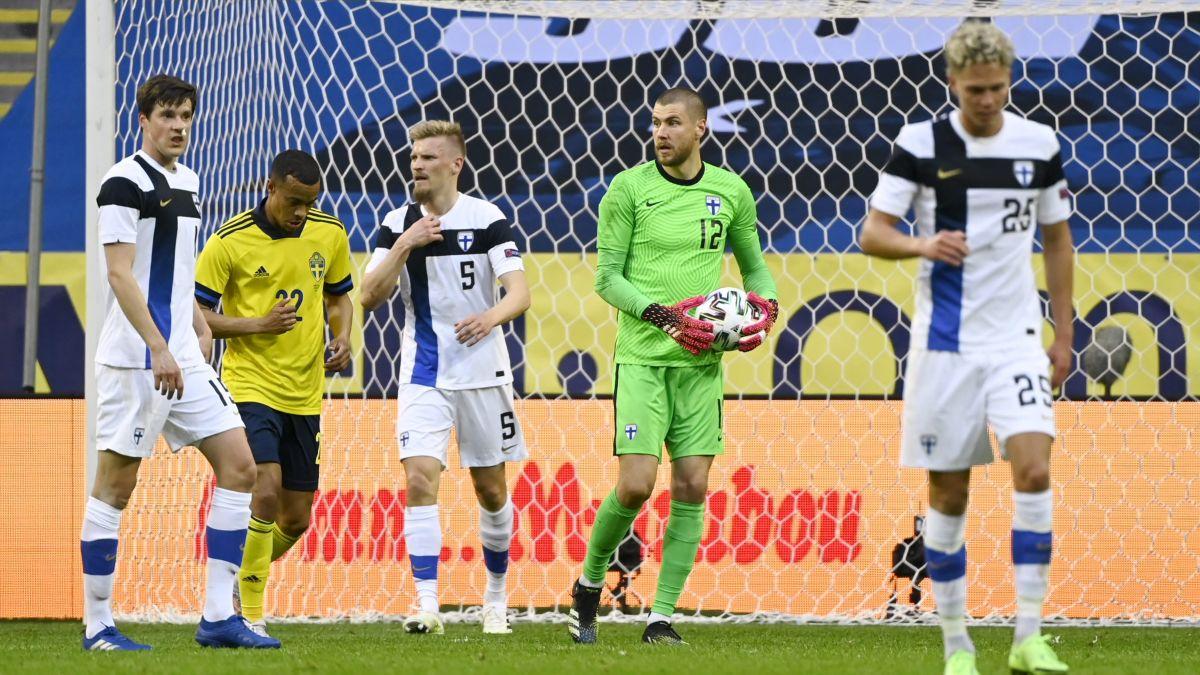 Tam insats av reservbetonat Finland – nollades av Sverige i näst sista matchen inför EM