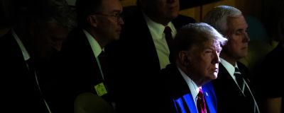 Donald Trump under klimatmötet i FN.