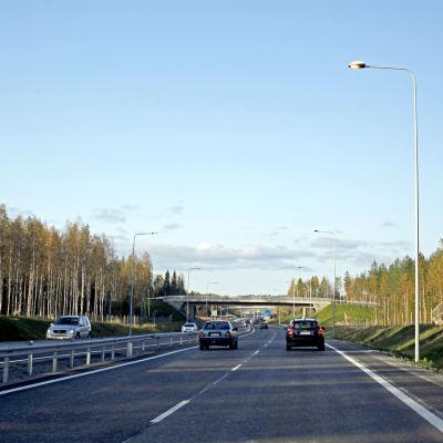 Smedsby omfartsväg, morgontrafik,