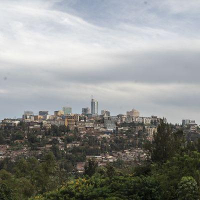 Vy över Rwandas huvudstad Kigali