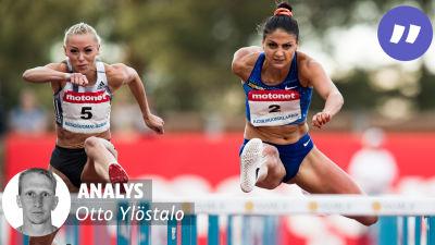 Annimari Korte och Nooralotta Neziri löper 100 meter häck
