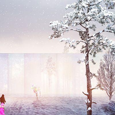 Romanialaisten arkkitehtien näkemys Ouluun suunnitellusta logistiikkakekusksesta.
