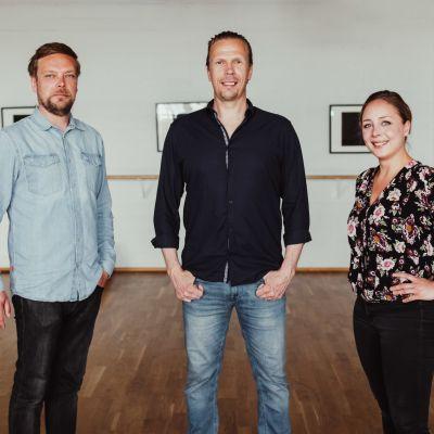 Rami Mäkilaine, Jukka Rasila ja Juulia Soidinaho