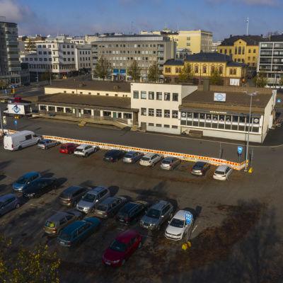 Hämeenlinnan linja-autoasema ilmakuvassa