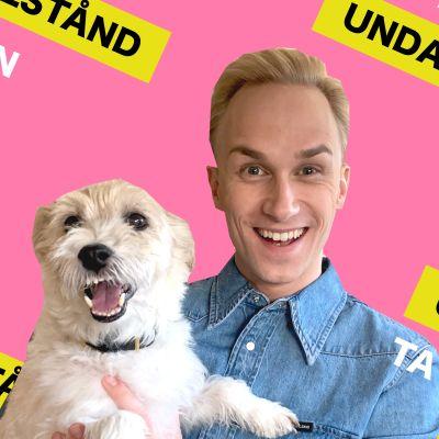 Christoffer Strandberg och hans hund medverkar i serien Undantagstillstånd.