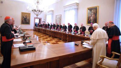 Påven träffade irländska biskopar i Vatikanen i februari