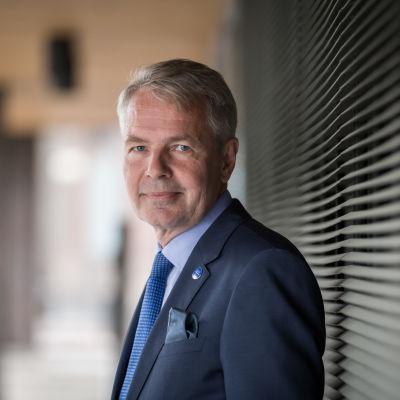 Vihreitten kansanedustaja ja presidenttiehdokas Pekka Haavisto, Pikkuparlamentti, 25.8.2017.