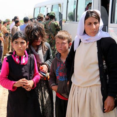 Många av de frisläppta yazidierna var i mycket dåligt skick.