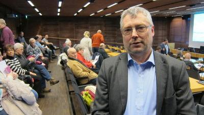 Gustaf Åberg vill inte ha en nationalpark i Porkala