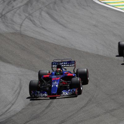 Brendon Hartley och Pierre Gasly i Toro Rossos bilar