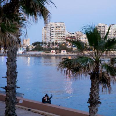 Iltanäkymää, Malta, 6.5.2018.