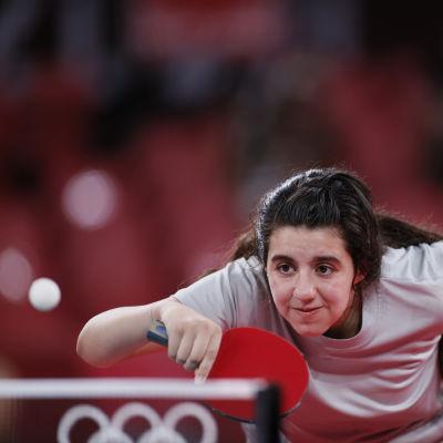 12-vuotias Syyrian Hend Zaza Tokion olympialaisissa 2021.