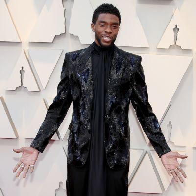 Chadwick Boseman på Oscarsgalan 2019.