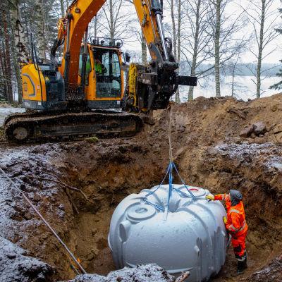 Jätevesilain mukainen jätevesisäiliö