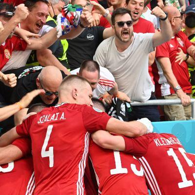 Unkari juhli maalia Ranskaa vastaan Budapestissa EM-kisapelissä 19.6t.2021