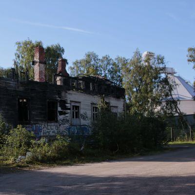 Limmin palanut talo Rommakkokadulla.