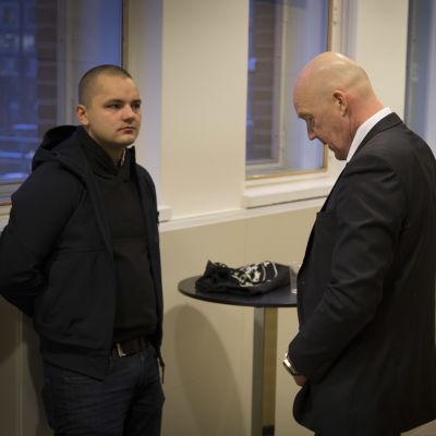 Jesse Torniainen och hand advokat i Helsingfors hovrätt.