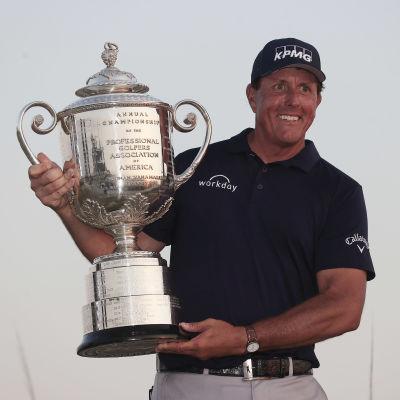 Phil Mickelson var bäst i årets PGA-Championship i golf.