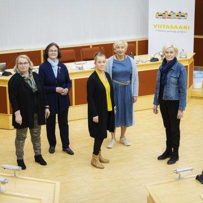 Viitasaaren kaupunginvaltuuston ja -hallituksen uudet puheenjohtajat.