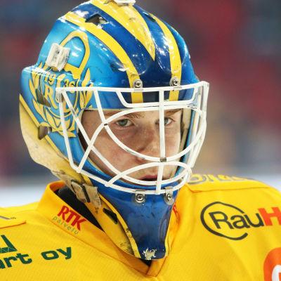 Målvakten Lassi Lehtinen spelar för Lukko.