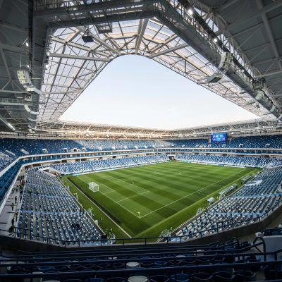 Bild på fotbollsstadion i Kaliningrad.