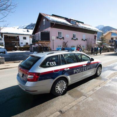 Polisen var närvarande och aktiv i Seefeld.