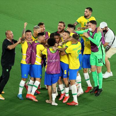 Brasilia juhlii olympiavoittoa