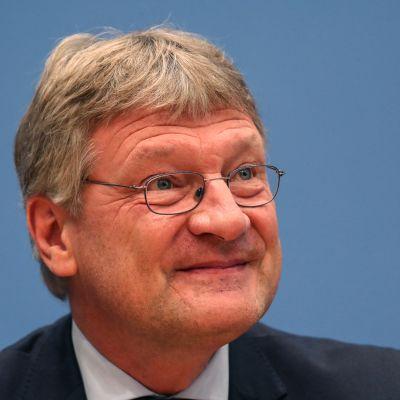 Jörg Meuthen, federal ordförande för högerpopulistiska Alternativ för Tyskland (AFD) under en presskonferens i Berlin 25.9.2017.