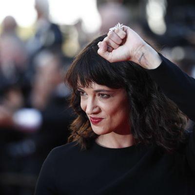 Skådespelaren Asia Argento under filmfestivalen i Cannes i maj 2018.