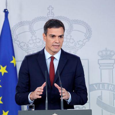 Spaniens premiärminister Pedro Sanchez höll en presskonferens i Madrid på lördagen där han berättade att Gibraltar-frågan var löst.