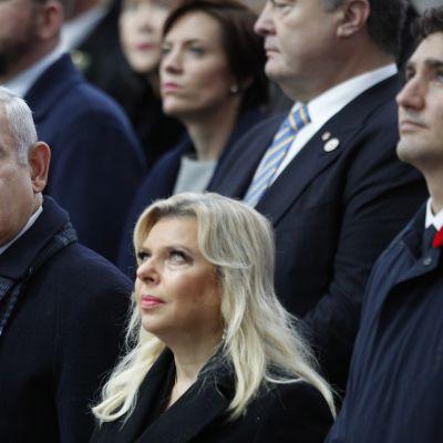 Sara och Benjamin Netanyahu besökte Paris förra månaden då man firade 100 års minnet av vapenstilleståndsdagen som avslutade första världskriget