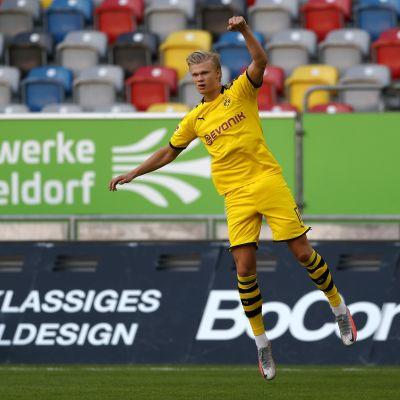 Erling Braut Håland ratkaisi elintärkeän voiton Dortmundille