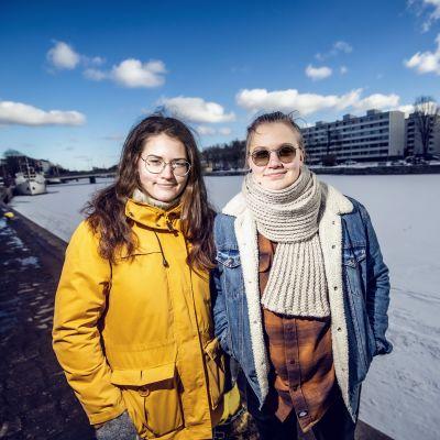 Elin Hägglund och Anna Björklöf.