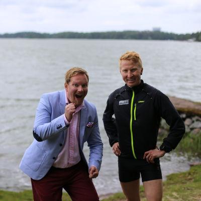 Ted Urho och Mårten Boström på Bockholmen