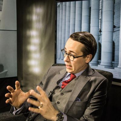 SFP:s ordförande Carl Haglund