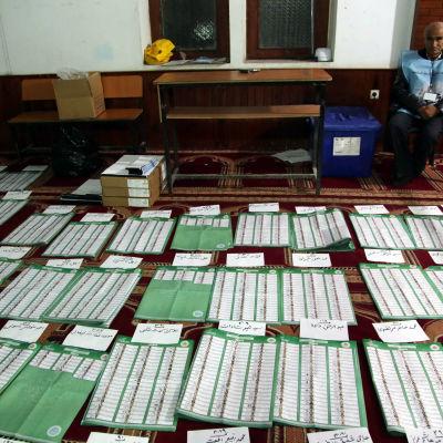 Rösträkning efter presidentvalet i Afghanistan