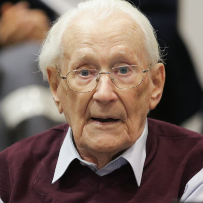 Oscar Gröningen under rättegången i juli 2015.