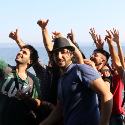 Syriska lyktingar har anlänt till europa