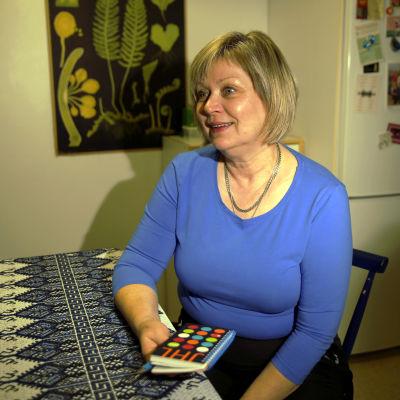 Porträtt på skolgångsbiträdet Katriina Richter