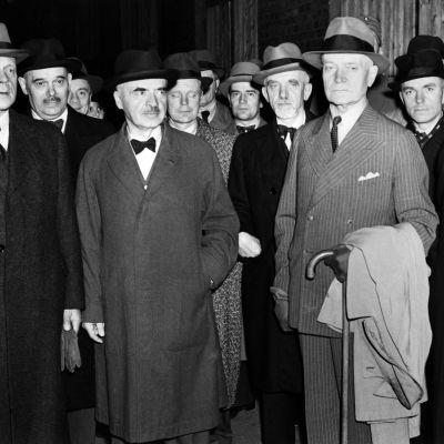 statsminister Antti Hackzell, general Rudolf Walden, general Erik Heinrichs ja generallöjtnant Oskar Enckell, 1944