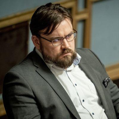 Johannes Yrttiaho eduskunnassa 12.9.2019