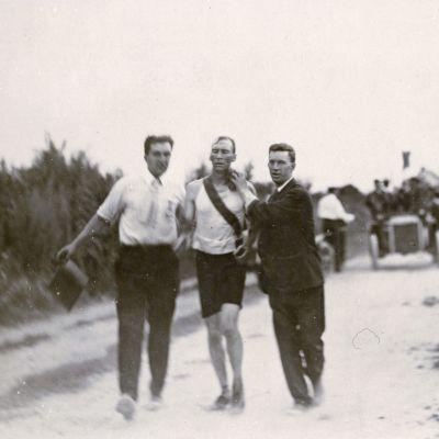 Thomas Hicks St. Louisin olympialaisten maratonilla.