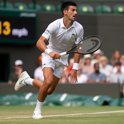 Novak Djokovic Wimbeldonin turnauksessa