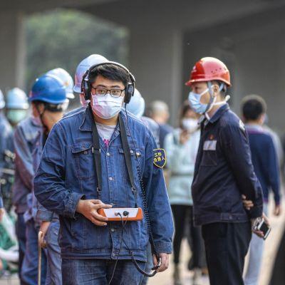 Industriarbetare i Kanton i Kina.